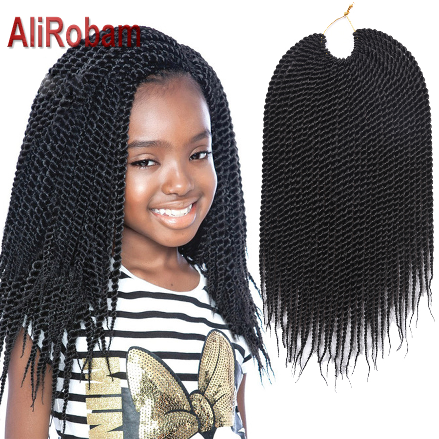 14inch 30roots/pack Havana Mambo Twist Crochet Braid Hair Extensions Synthetic Ombre Senegalese ...