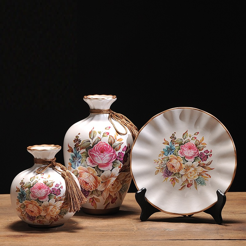 3Pcs/Set European ceramic vase…