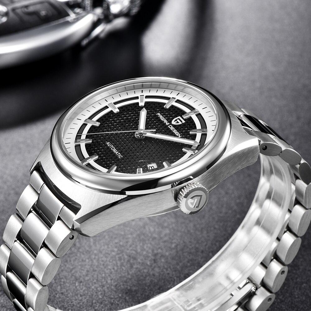 Mens Watches Top Brand Luxury PAGANI DESIGN New Mechanical Automatic Fashion Business Men Stainless Steel Watch Erkek kol saati