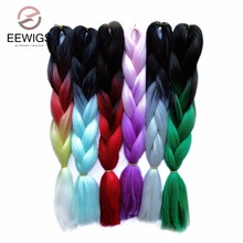 100g/pack 24inch Kanekalon Jumbo Braids Hair Ombre Two Tones Colored 15 Colors Synthetic Hair Crochet Braiding Hair Extensions