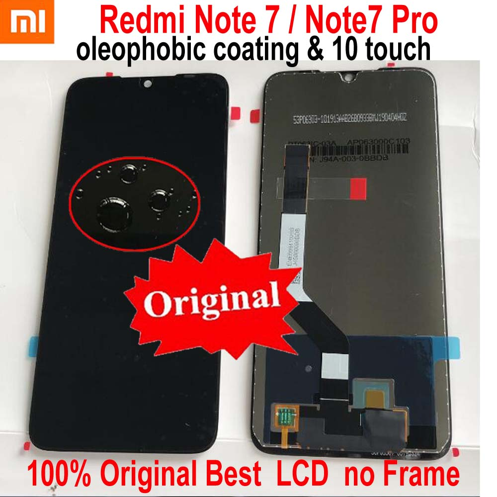 100 Original Working LCD Display Touch Screen Digitizer Assembly Sensor For Xiaomi Redmi Note 7 Note7