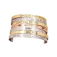 Fashion accessories jewelry Iron  letter brave wish mix design cuff bangle lovers' gift B3416