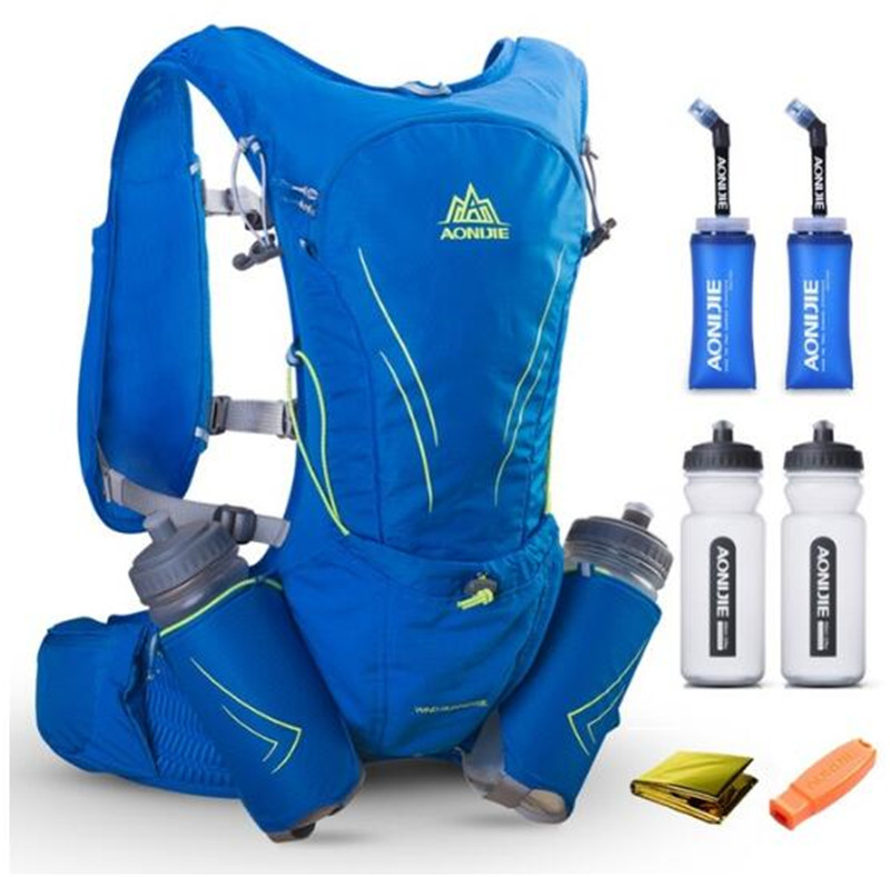 AONIJIE 15L Lightweight Hydration Running Bag Outdoor Marathon Hiking Cycling Backpack Vest Pack For 3L Water Bladder