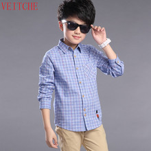 hot deal buy shirts for boys cotton brand children shirts kids clothes for boys plaid boys shirts long sleeve turndown school uniform shirt