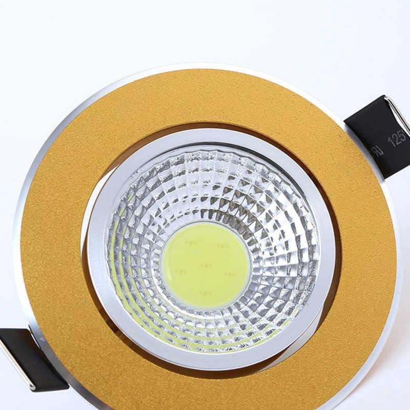 1 шт. сверхъяркий регулируемый светодиодный светильник COB Потолочный Точечный светильник 3 Вт 5 Вт 7 Вт 12 Вт потолочное встраиваемое освещение внутреннее освещение