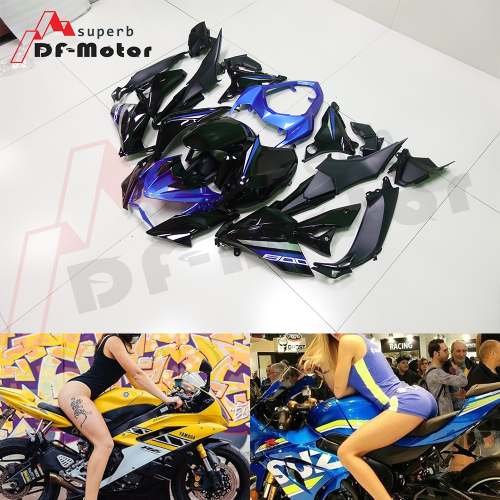 Complete High Quality ABS Injection Plastics Fairings Kit For Kawasaki Z800 2013 - 2016 13 14 15  2016 Blue Black