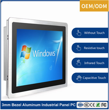 4GB RAM OEM/ODM touch screen fanless win 10 computer 12 inch mini all in one pc