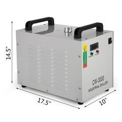 CW-3000 T Industrial Water Cooler Chiller for CNC/ Laser Engraver Engraving Machines 60W/80W  with free shipping to EU