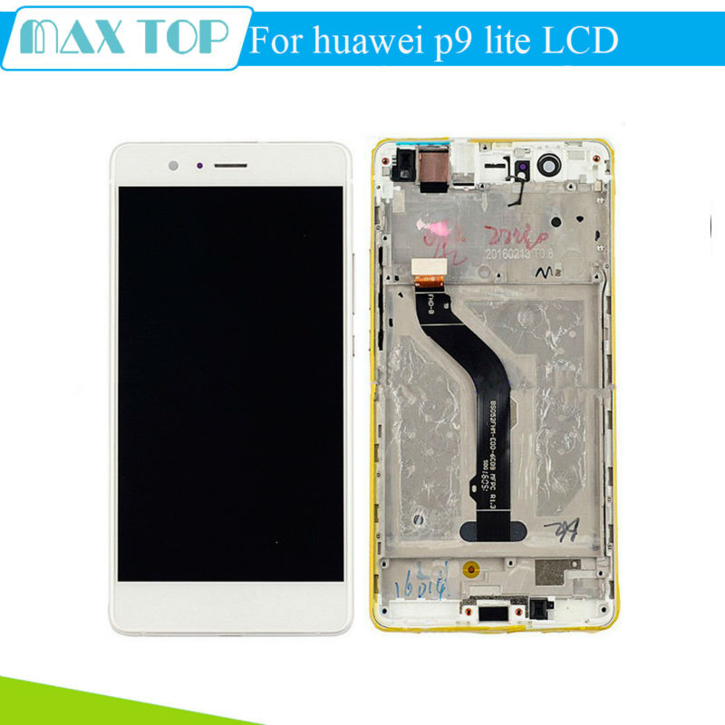 Para huawei p9 lite lcd display + touch screen panel de cristal accesorios de re