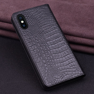 Image 3 - Luxury Genuine Crocodile Leather Phone Cases for IPhone XS XS MAX Case Fashion Phone Bags for IPhone XR Case