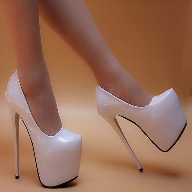 Patent Leather Woman Shoes Sexy 16cm High Heels shoes sexy Pumps sys-990