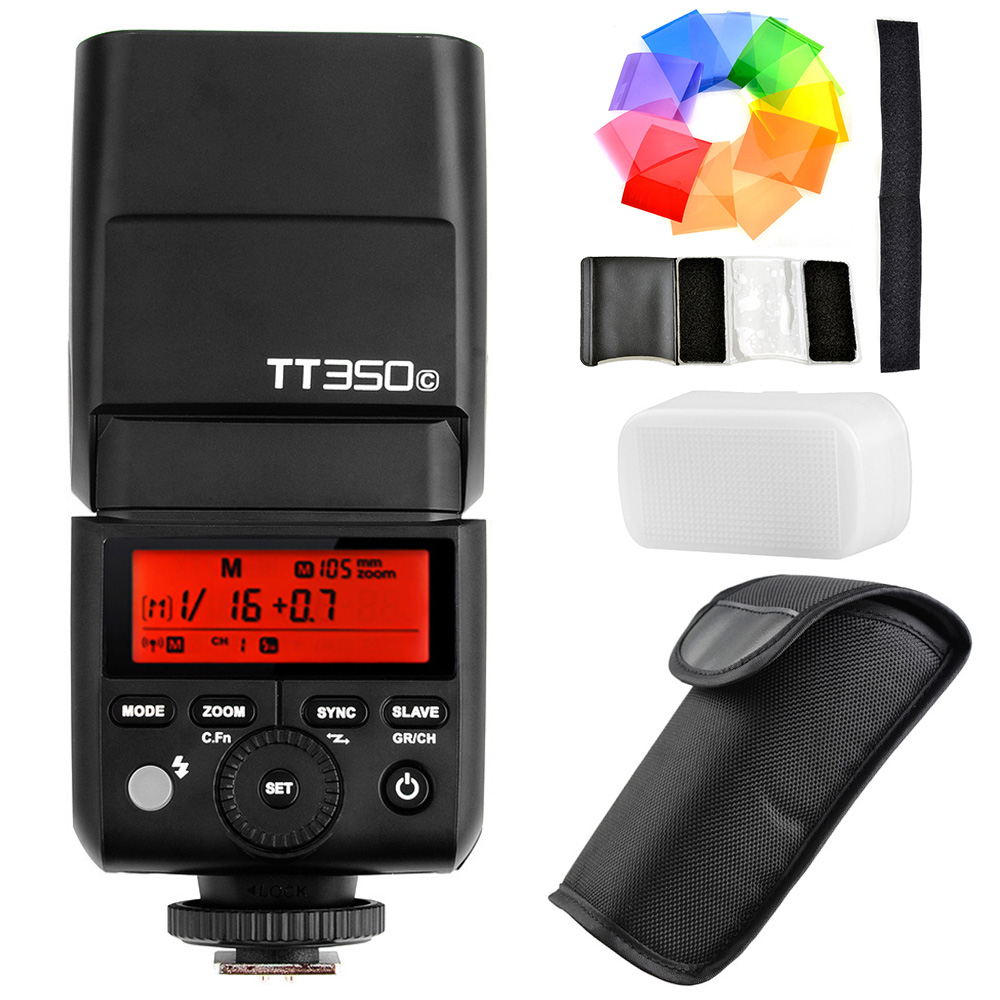 Newest GODOX TT350C GN36 HSS 1 / 8000s TTL 2.4G Wireless X System Camera Speedlite for Canon 5D 6D 70D Mirrorless Digital Camera petlas ta60 13 6 36 8pr tt