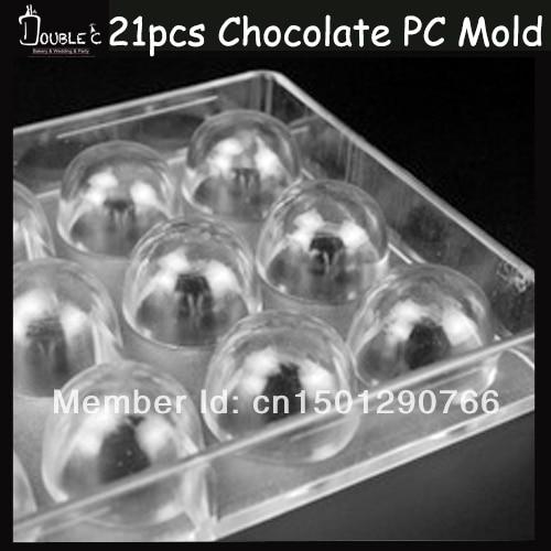 2.5x2cm*21cups Shape Chocolate Clear Polycarbonate Plastic Mold,DIY Handmade Chocolate PC Mold,Chocolate Tools,Good Quality