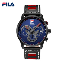 Fila De Luxe Top Marque Nouvelle Mode Casual Grand Cadran Conception 3 Minuterie Cercles Sport Montre-Bracelet Bracelet En Cuir Quartz Hommes Montre 38-785(China (Mainland))