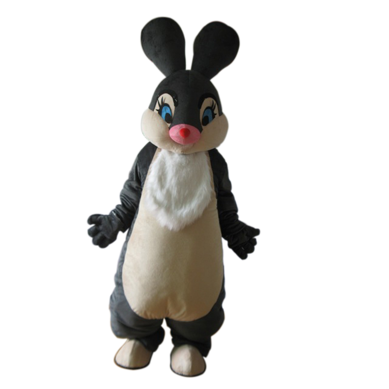 Высокое качество талисман новые черные декорированные кролики талисман костюм для взрослых, Герой мультфильма милый заяц Кролик талисман