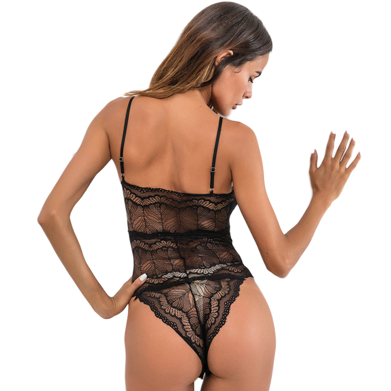 fa8d4c906 2019 Ladies Sexy Hot Lace Transparent Lingerie Cheap Black White Nightie Sexy  Lingerie Nude Lace Teddy Lingerie on Aliexpress.com