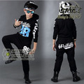 New Fashion Children's Jazz Dance Costume Boys Girls Hip-hop Costume Boys Tracksuit Summer Sport Suit Stage Performance Costume