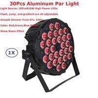 1Pcs Aluminum Alloy LED Par Light 30X10W RGBW Quad Color LED Par Cans With 4 8
