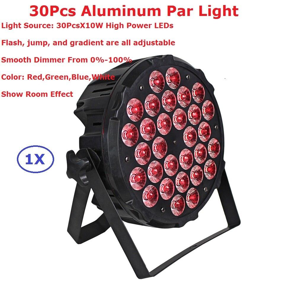 1 pièces En Alliage D'aluminium LED Par Lumière 30X10W RGBW Quad Couleur LED Par Canettes Avec 4/8 Canaux DMX Étape Dj Disco Fête Événements D'éclairage