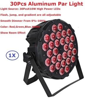 1Pcs Aluminum Alloy LED Par Light 30X10W RGBW Quad Color LED Par Cans With 4/8 DMX Channels Stage Dj Disco Party Events Lighting