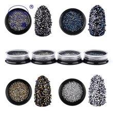 Gold Glass Rhinestones 1 Box Nail And Gems 3d DIY Loose Crystal Decoration SS1