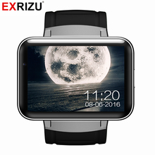 EXRIZU DM98 Android 4.4 OS Bluetooth Smart Watch 2.2inch Smartwatch Phone MTK6572 Dual Core 1.2GHz 512M RAM 4G ROM Camera 3G GPS