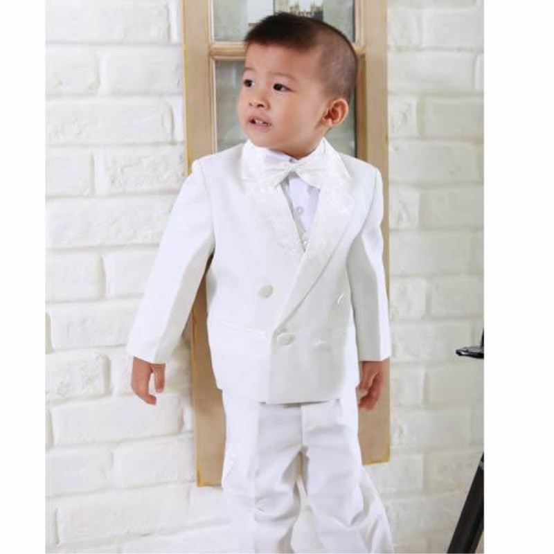 Boys suits white wedding boys kids dress tuxedos boy 39 s for Boys dress clothes wedding