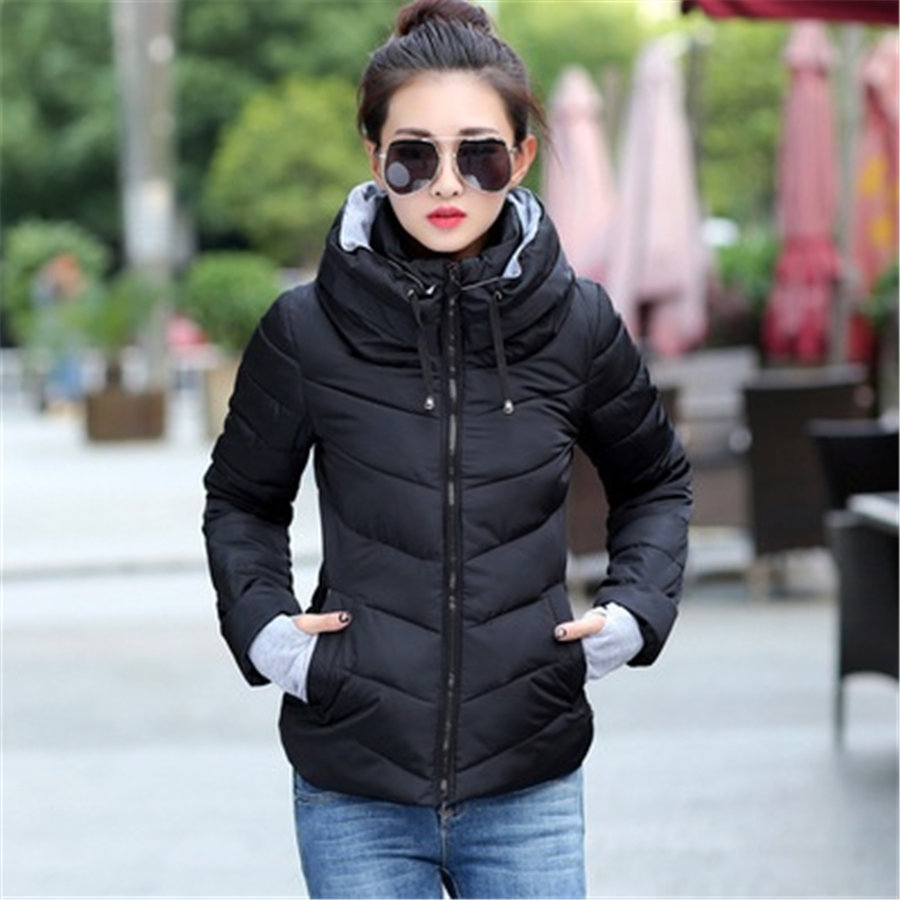 Zogaa S-3XL Plus Size Woman Winter Coat Female Jacket   Parka   Slim Fit Casual Padded Hooded Outwear Windbreaker Women Overcoats