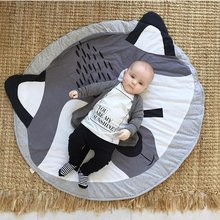 Baby Play Mats Toys Oval Game Carpet Rugs Large rawling blanket Carpet Portable cotton kids Toys Sundries Pouch fox decoration