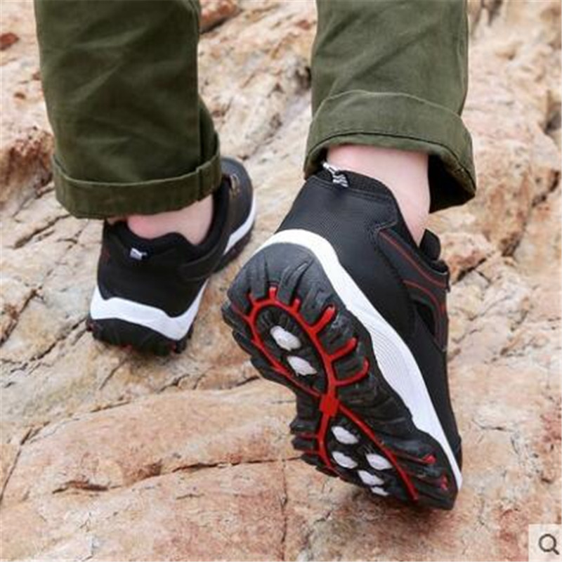 Sneakers men's casual shoes new outdoor shoes travel mountaineering non-slip shock absorber shoes wear low to help walking shoes 5
