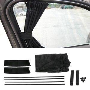 Image 1 - 1Set  Universal Black Mesh Interlock VIP Car Window Curtain Sunshade Visor UV Block