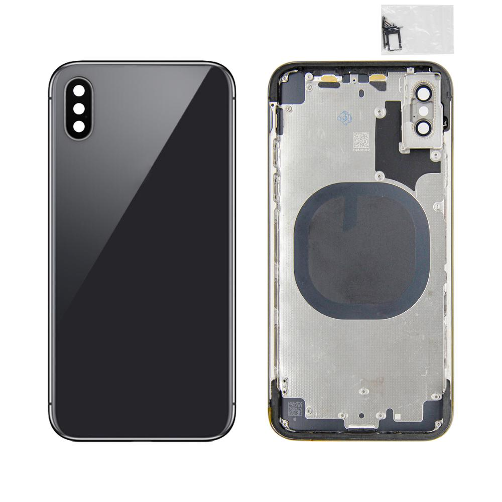 For iphone x New Back Middle Frame Full Housing with Battery Cover For iphone x Back Housing Back Cover