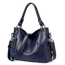 High Quality Women Handbag PU Leather Ladies Tassel Tote Top Handle Bags Crossbody Shoulder Bag Purse Satchel 2019 New недорого