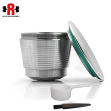 Free shipping/STAINLESS STEEL Metal Capsule Compatible for Nespresso Machine Refillable Reusable capsule/gift Reusable Coffee