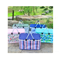 Foldable Outdoor Door Handbag Large Reusable Shopping Basket Picnic Bag