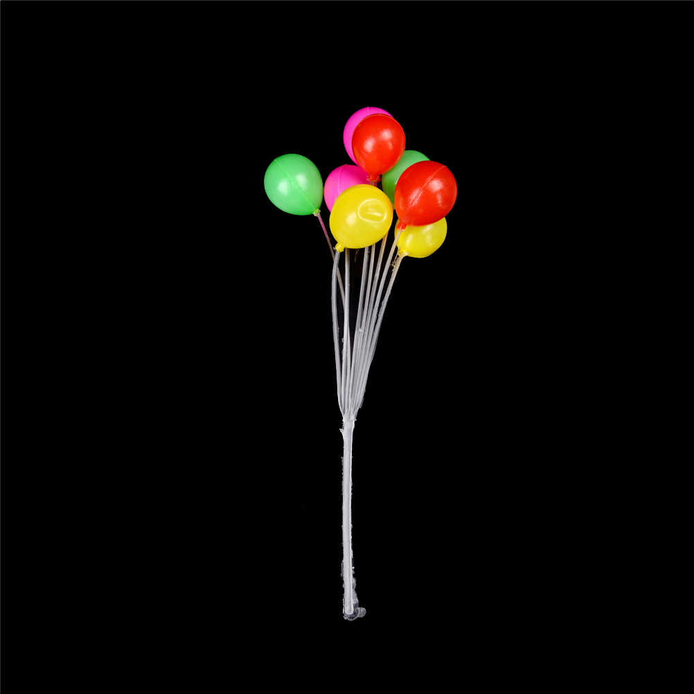 (including 8 balloons) A bunch plastic Garden Ornament Mini Balloon Plant Fairy Dollhouse Home Miniature Decor Gift