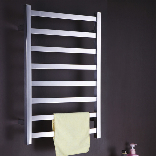 Free Shipping Stainless Steel Wall Mounted Towel Warmer Dryer Bathroom Accessories Heated Rail