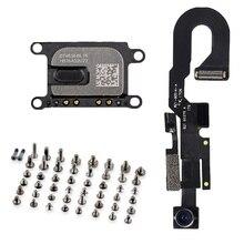 3 pçs/set para iPhone 7 7 Além Disso Frente Câmera com Sensor De Luz Proximidade Cabo Flexível do Microfone + Speaker Fone de ouvido + parafusos completos