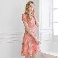 Пикси темно синего цвета с вышивкой платье ZA Розовый и красный цвет миди платья в сеточку летние шорты с длинным рукавом vestidos вечерние облег