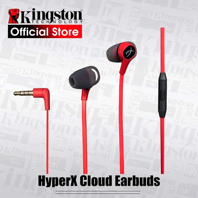 Original Kingston HyperX Cloud Earbuds Gaming Headset With a microphone Immersive wired headset in game audio In Ear headset