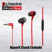 Orijinal Kingston HyperX bulut kulaklıklar oyun kulaklığı bir mikrofon ile sürükleyici kablolu kulaklık oyun ses kulak içi kulaklık
