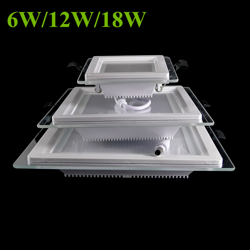 Square Led Panel Downlight Dimmable 18W 12W 6W Led Panel Light Ceiling Lamps Led Indoor Panel Down Lights Warm White Cold White free shipping dimmable 48w 600x600mm led panel light high brightness led chips warm white natural white cold white available