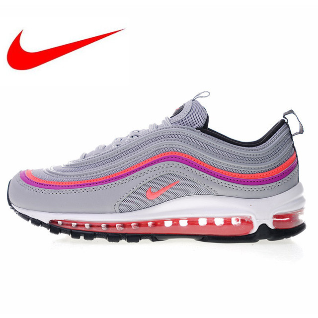 on sale 15cd0 63469 US $91.79 49% OFF|Original Nike Air Max 97 Premium Women's Running Shoes  New High Quality Outdoor Sneakers Shock Absorption Lightweight 921733  009-in ...