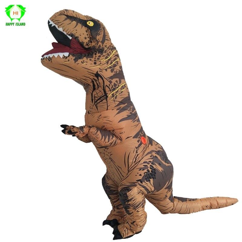 T REX Dinosaure Gonflable Costumes Monde Jurassique Parc t-rex Dinosaure Cosplay Costume Halloween Party Costume pour Adulte enfants