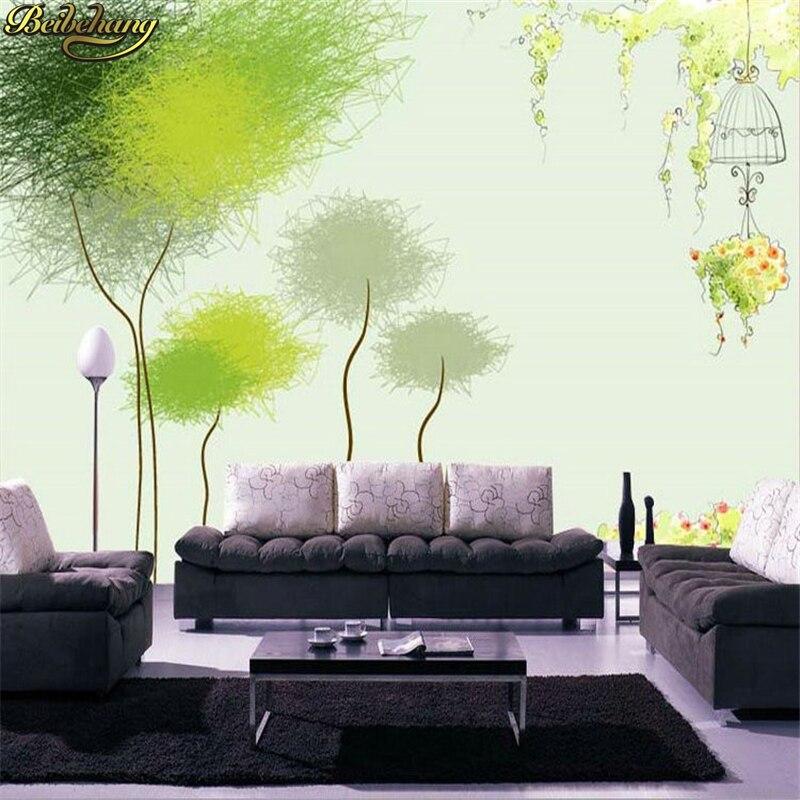 Dandelion Tv Background Non Woven 3d Wallpaper Seamless Mural Customize Any Size Murals Papel De Parede