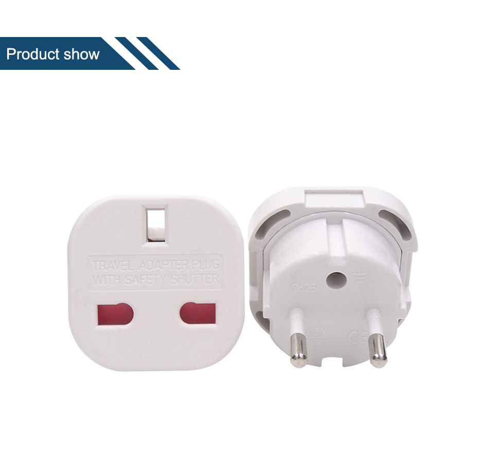 UK to European Euro EU AC Travel Charger Adapter Plug Outlet Converter Adapter power conversion plug Universal mobile phone (10)