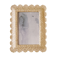 Hot Selling Newest Modern Minimalist Creative Metal Photo Frame Set Table Lace Carved Flower Frame Decoration Ornaments