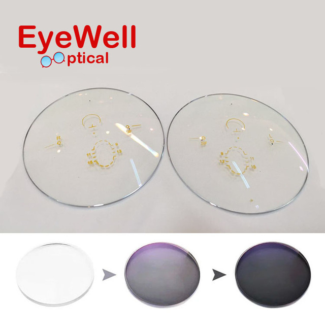 1.67 Photogray Photogray Freeform Multi Focal Progressive Photobrown Lens Customized Lens See Far and Near for Myopia or Reading