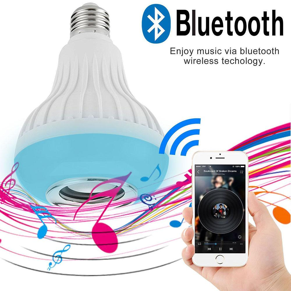 MVpower 12W LED Styling Bluetooth 4.0 Bluetooth Audio Music Playing Bulb Smart Speaker for iPhone iPad Smartphone Remote Control
