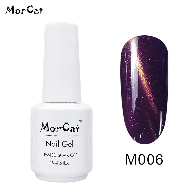 MorCat 15ml Gel Nail Polish Super Shining Magic Nail Polish 15 Colors Cat Eye UV Gel Use for Nail Salon Cat Eye Gel Polish in Nail Gel from Beauty Health